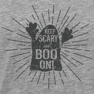 Keep scary and boo on Sportsklær - Premium T-skjorte for menn