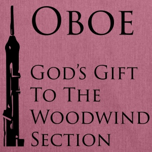 Oboe God's gift T-Shirts - Schultertasche aus Recycling-Material