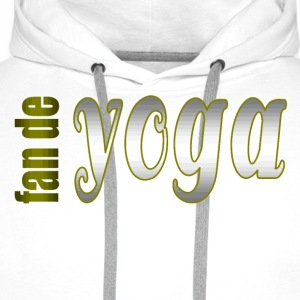 fan de yoga - Sweat-shirt à capuche Premium pour hommes