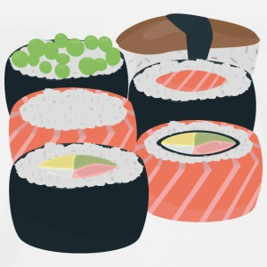 Number of different Sushi rolls Bags & Backpacks - Men's Premium T-Shirt
