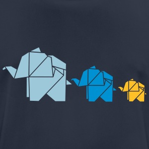 Origami, elephant, elefant, family, animal, cute Sweat-shirts - T-shirt respirant Homme