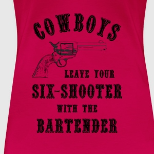 cowboys leave your guns s Tops - Women's Premium T-Shirt