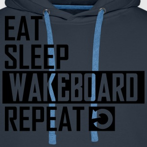 eat sleep wakeboard T-Shirts - Männer Premium Hoodie