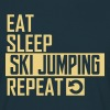 eat sleep ski jumping T-Shirts - Männer T-Shirt
