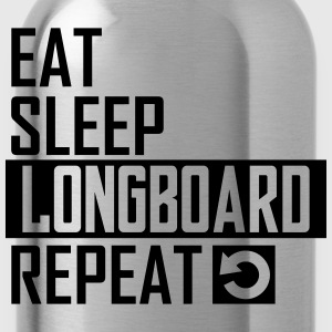 eat sleep longboard T-Shirts - Trinkflasche