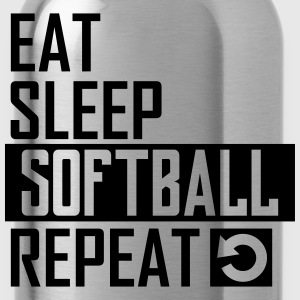 eat sleep softball T-Shirts - Trinkflasche
