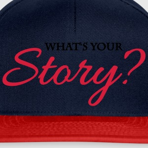 What's your story? Sportkleding - Snapback cap