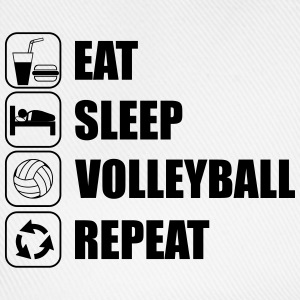 Eat,sleep,volleyBall,repeat - Cappello con visiera