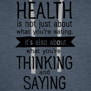Health is also thinking and talking T-shirts - Herre Premium hættetrøje