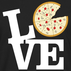 Love Pizza Gensere - Premium langermet T-skjorte for menn