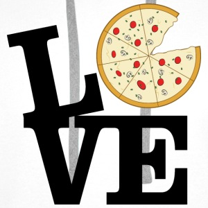 Love Pizza Topper - Premium hettegenser for menn