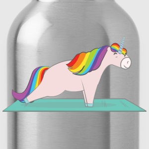 Unicorn Plank Pose T-Shirts - Water Bottle
