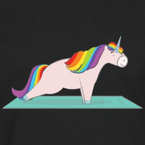 Unicorn Plank Pose T-Shirts - Men's Premium Longsleeve Shirt