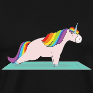 Unicorn Plank Pose Hoodies & Sweatshirts - Men's Premium T-Shirt