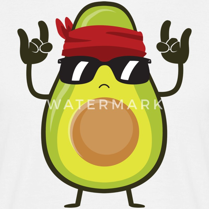Avocado Rock T-Shirts - Men's T-Shirt