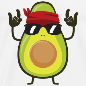 Avocado Rock Toppar - Premium-T-shirt herr