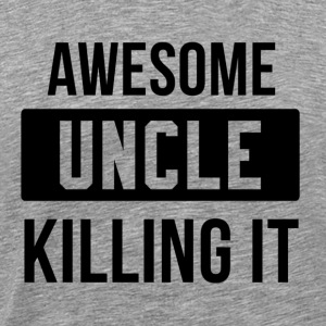 Awesome UNCLE killing it Långärmade T-shirts - Premium-T-shirt herr