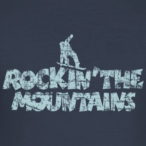 Rockin' the Mountains Snowboarder (Vintage/Hellbla - Männer Slim Fit T-Shirt