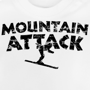 Mountain Attack Ski (Vintage/Schwarz) Teenager T-S - Baby T-Shirt