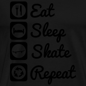 Eat sleep skate Skateboarding Sweaters - Mannen Premium T-shirt
