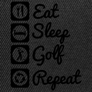 Eat sleep golf repeat  Polo skjorter - Snapback-caps