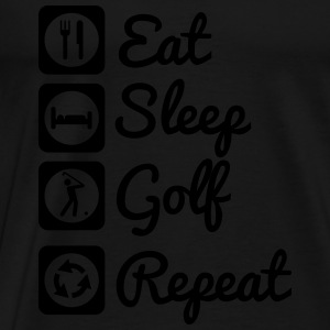 Eat sleep golf repeat  Bluzy - Koszulka męska Premium