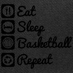Eat sleep basketball Toppar - Snapbackkeps