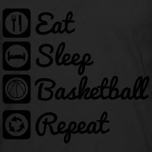 Eat sleep basketball T-skjorter - Premium langermet T-skjorte for menn