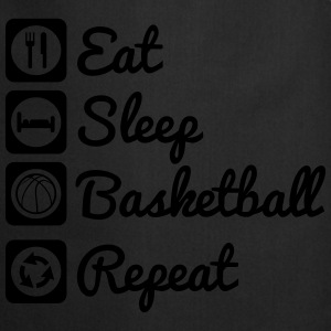Eat sleep basketball T-skjorter - Kokkeforkle