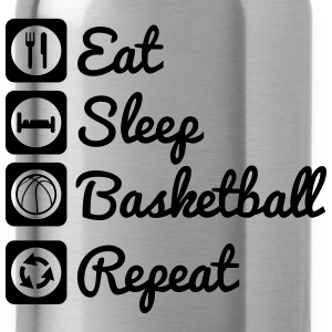 Eat sleep basketball T-Shirts - Trinkflasche