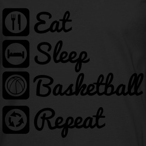 Eat sleep basketball T-Shirts - Männer Premium Langarmshirt