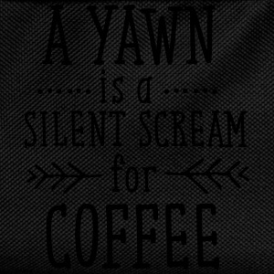 A Yawn Is A Silent Scream For Coffee T-Shirts - Kids' Backpack