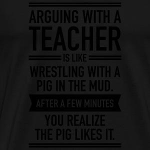 Arguin With A Teacher Sweaters - Mannen Premium T-shirt