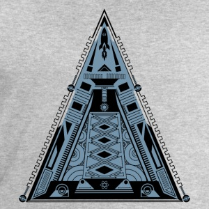 Pyramide, triangle, fusée, vaisseau spatial, cool, Tee shirts - Sweat-shirt Homme Stanley & Stella