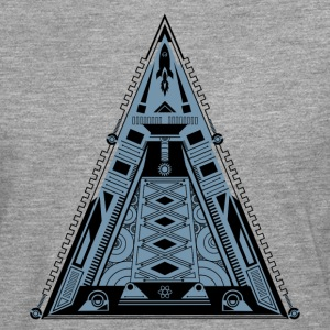 Pyramide, triangle, fusée, vaisseau spatial, cool, Tee shirts - T-shirt manches longues Premium Homme