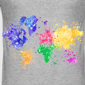 Rainbow Map Hoodie - Männer Slim Fit T-Shirt