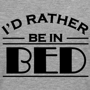 I'd rather be in bed T-shirts - Mannen Premium shirt met lange mouwen