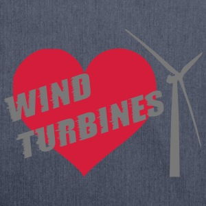 I love wind turbines! T-Shirts - Shoulder Bag made from recycled material