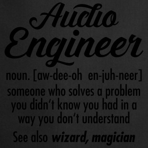 Audio Engineer - Definition T-shirts - Keukenschort
