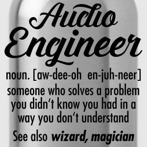 Audio Engineer - Definition T-Shirts - Water Bottle