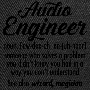 Audio Engineer - Definition T-Shirts - Snapback Cap