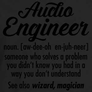 Audio Engineer - Definition Sweaters - Mannen Premium shirt met lange mouwen