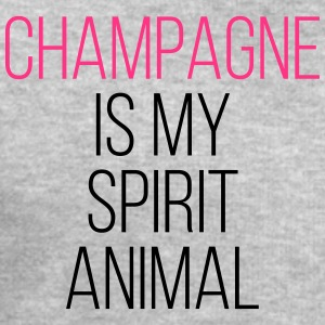 Champagne Spirit Animal Funny Quote T-Shirts - Men's Sweatshirt by Stanley & Stella