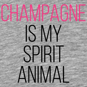 Champagne Spirit Animal Funny Quote Sweaters - Mannen Premium T-shirt