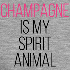 Champagne Spirit Animal Funny Quote Gensere - Premium langermet T-skjorte for menn