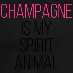 Champagne Spirit Animal Funny Quote Topper - Premium T-skjorte for menn