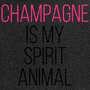 Champagne Spirit Animal Funny Quote Tops - Snapback Cap