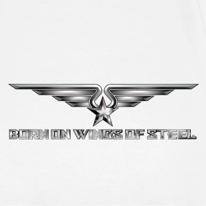 Born on wings of steel - Männer Premium T-Shirt