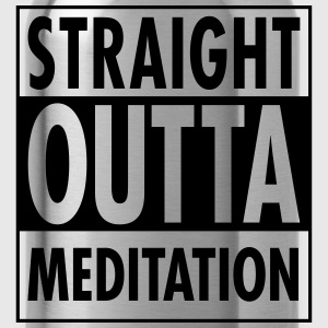 Straight Outta Meditation T-shirts - Vattenflaska