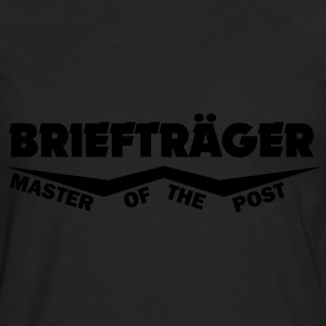 briefträger master of the post T-Shirts - Männer Premium Langarmshirt